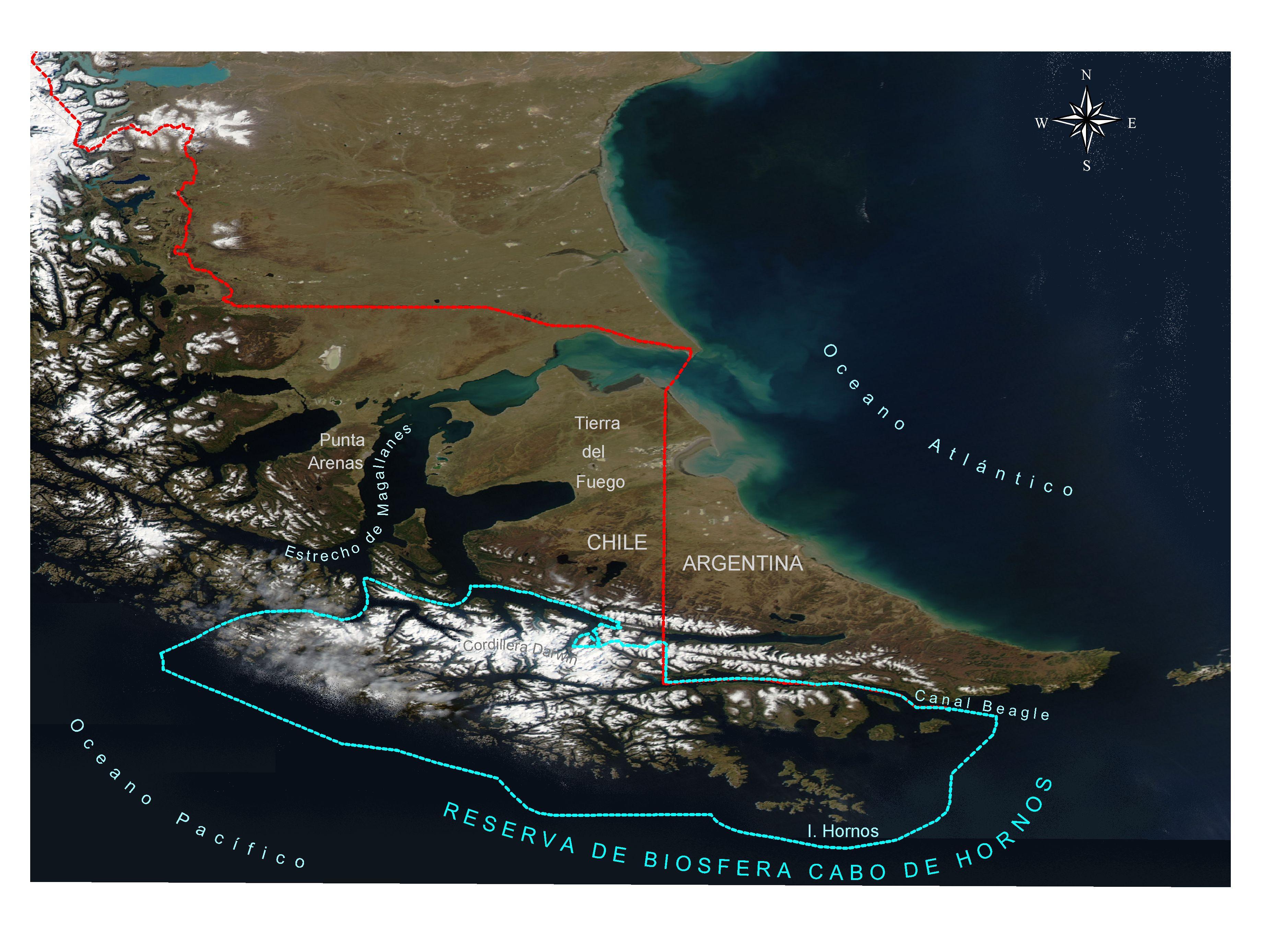 The Cape Horn Biosphere Reserve SubAntarctic Biocultural - Argentina cape horn map